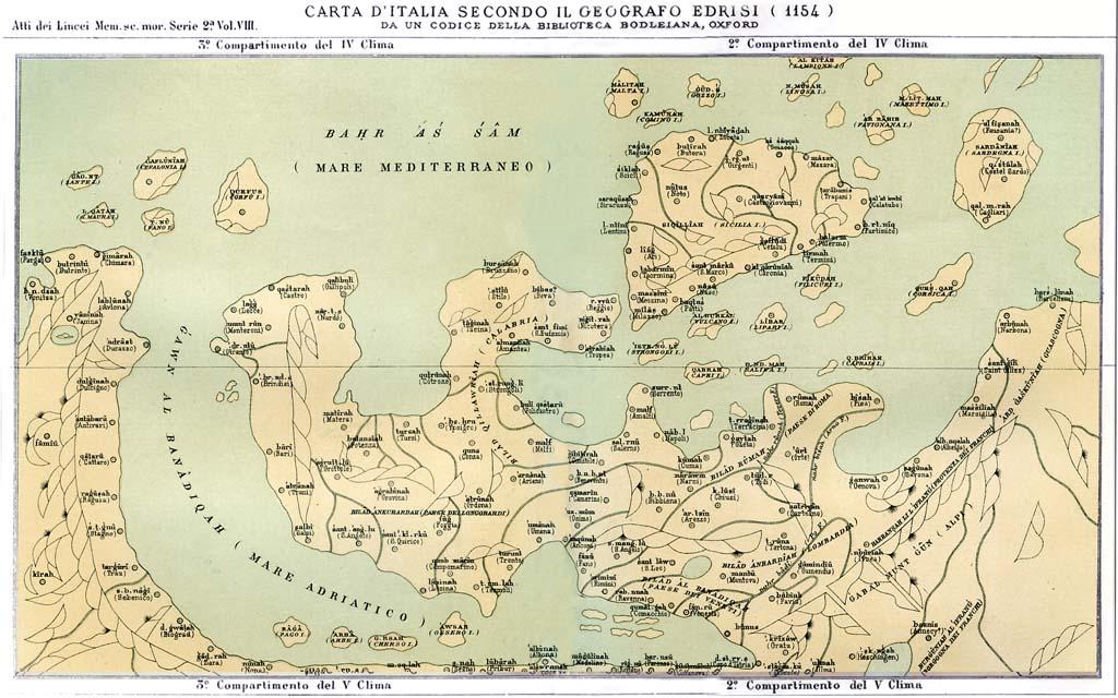 Carte Italie Corato.Documenti Andria Nella Geografia Dell Edrisi