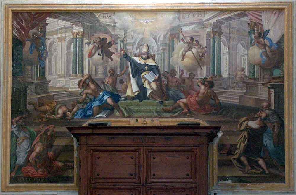 quadro di Sant'Agostino che sconfigge gli eretici